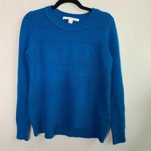 Diane Von Furstenberg wool cashmere blue sweater